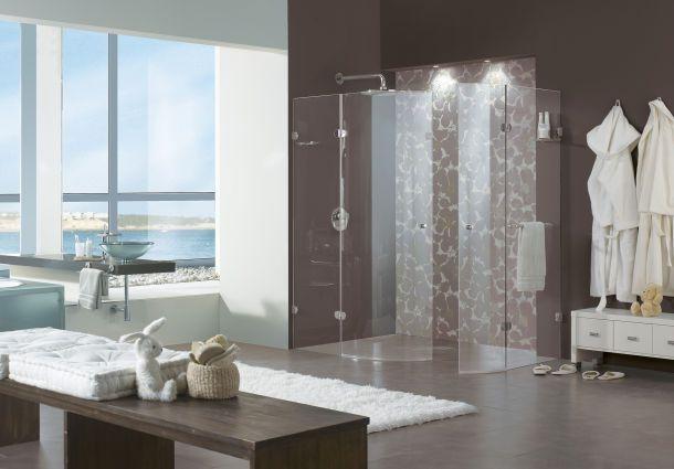 Duschkabine Mit Gläsender Trennwand