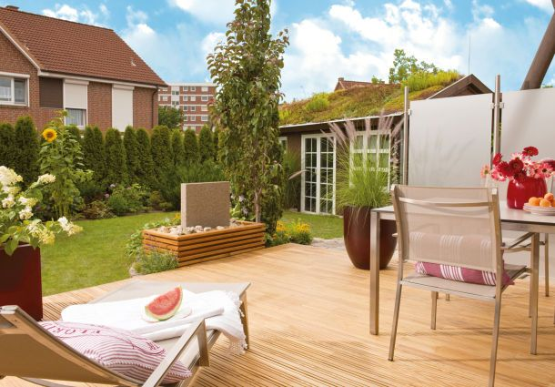 Fensterbrett Holz Oder Stein ~ Holz, Stein oder Beton  Terrassenbeläge im Vergleich