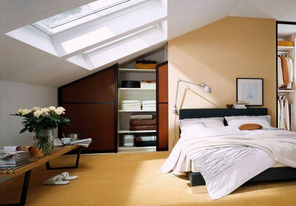 raumaufteilung leichte w nde und schr nke unter schr gen. Black Bedroom Furniture Sets. Home Design Ideas