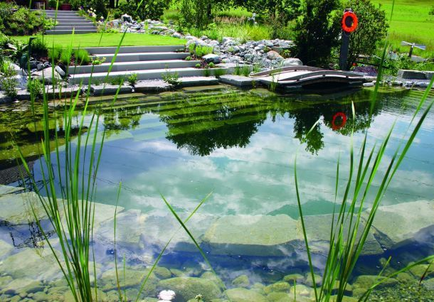 Badespa in der natur einen schwimmteich anlegen for Toile a bassin