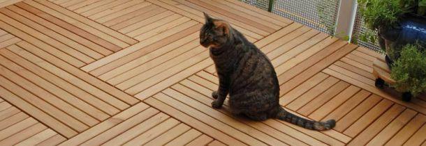 Holzfliesen Auf Dem Balkon Der Richtige Bodenbelag Fur Draussen