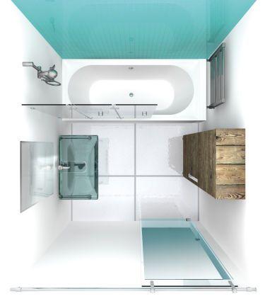 Formschöne Fusion: Die Duschbadewanne