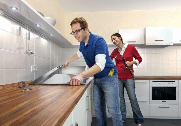 Miniküche Kühlschrank Austauschen : Küchenarbeitsplatte austauschen bauemotion