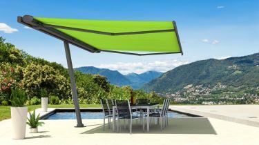 schattenspender sonnenschutz auf balkon und terrasse. Black Bedroom Furniture Sets. Home Design Ideas