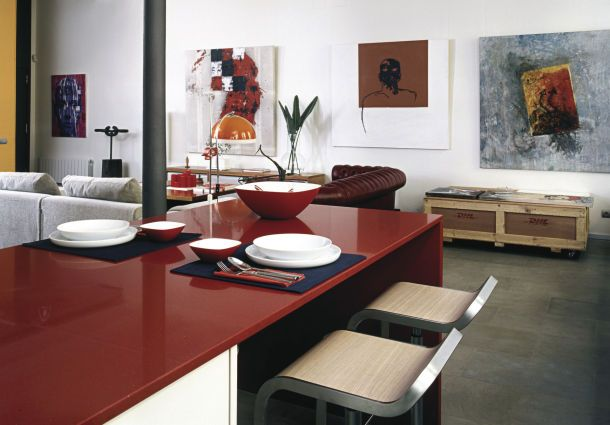 loft mit beton und klinker einrichtung, wohnstile - bauemotion.de, Design ideen