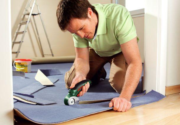 Fußboden Teppich Verlegen ~ Teppichboden selbst verlegen bauemotion