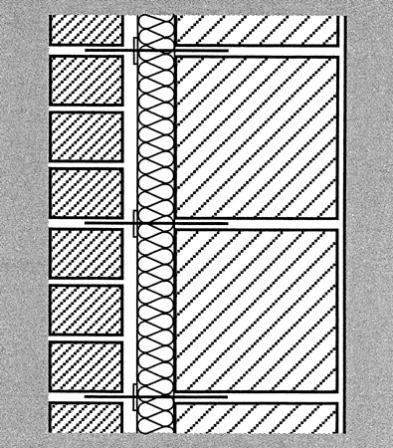 zweischaliges mauerwerk mit kernd mmung. Black Bedroom Furniture Sets. Home Design Ideas